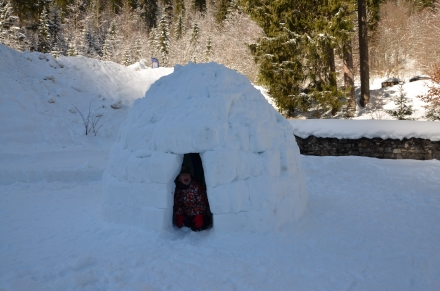 Construction d'igloos - Chalet L'ESCALADE